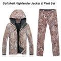 Highlander POUCO Caça Ao Ar Livre À Prova D' Água À Prova de Vento Com Capuz Jacket TAD softshell Jaqueta + conjuntos de calças Kryptek camo softshell