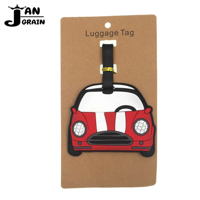 Set of 2 PU Leather Luggage Tags Spongebob and His Friends Suitcase Labels Bag Adjustable Leather Strap Travel Accessories