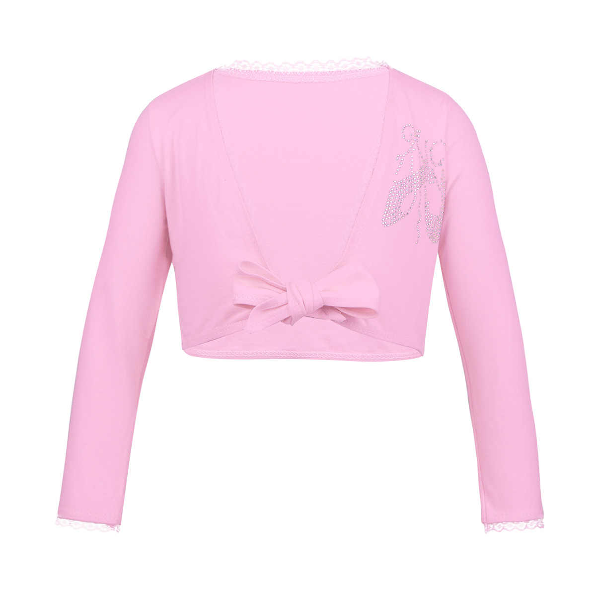 bb48c0f6ff0 Detail Feedback Questions about Girls Knotted Lace edge Ballet Wrap Top Girl  Long Sleeve Ballerina Leotard Cardigan Crop Tops Kids Dance Coat Shawl  Cardigan ...