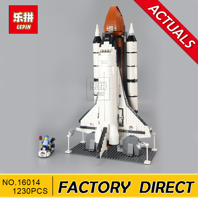 Lepin 16014 1230Pcs Space Shuttle Expedition Model Building Kits Blocks Bricks Toys For Children Gift Compatible With 10231 папка для тетрадей а5 proff переменка пластиковая на липучке 1отд mb14 p1