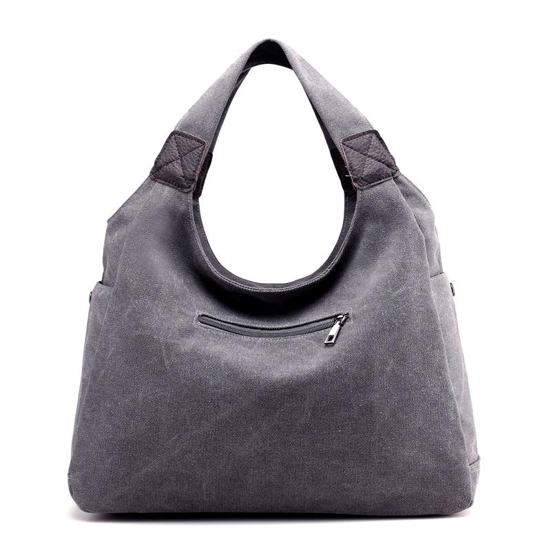 KVKY Brand Canvas Women Bag Women Handbags Fashion Design Ladies Tote Bag Female Solid Big Shoulder Bags Travel Bag Bolsos Mujer in Shoulder Bags from Luggage Bags