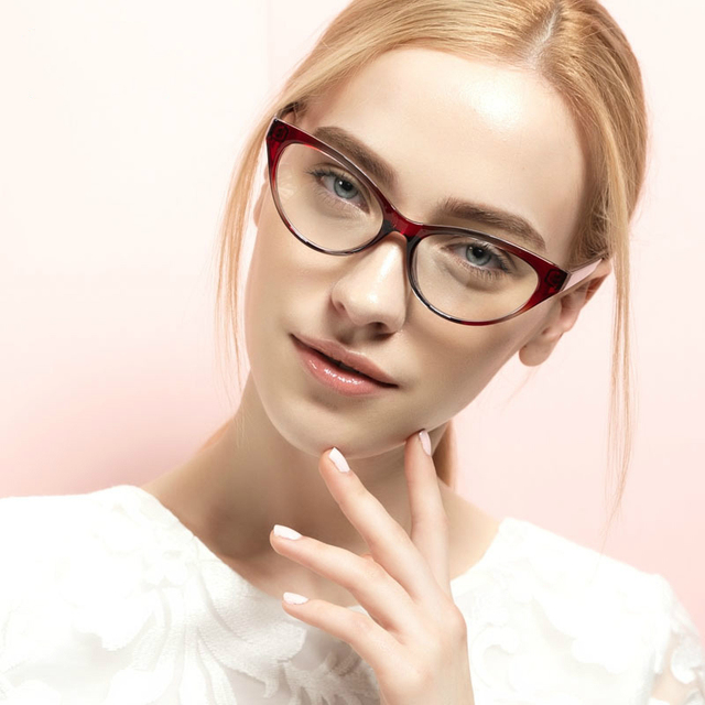 8181b71311065 Top Quality Unbreakable Tr90 Women Clear Eyeglasses Frame Titanium Cat Eye  Frames Optical Eyewear Nerd Transparent