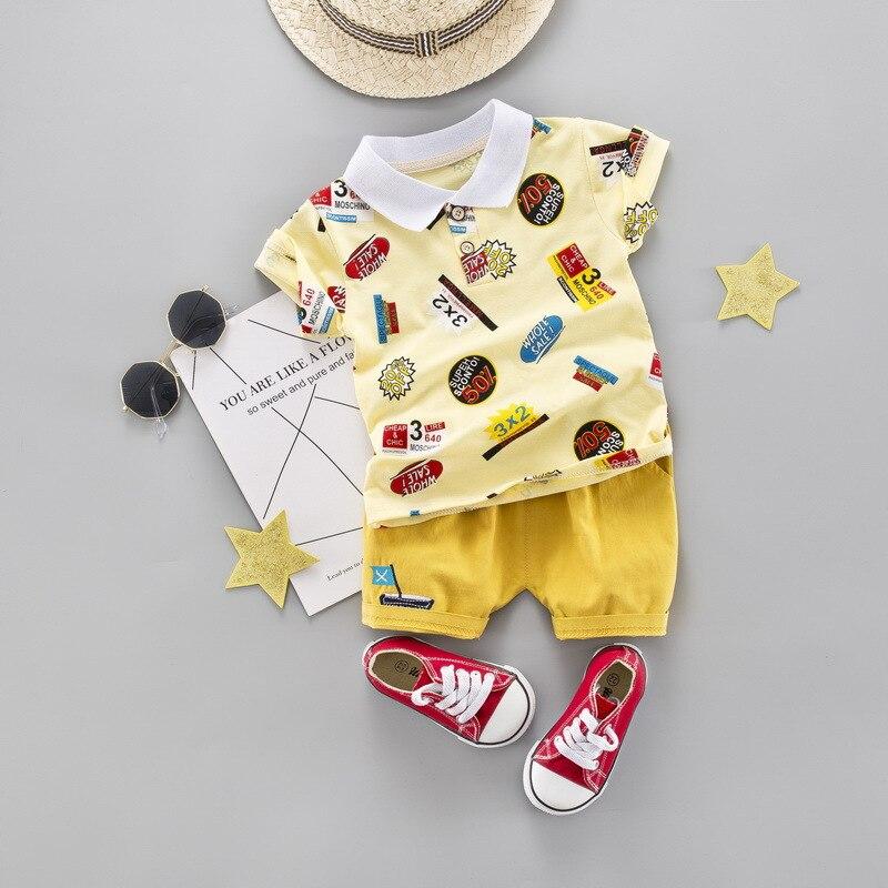 Criança menino roupas de verão meninos algodão