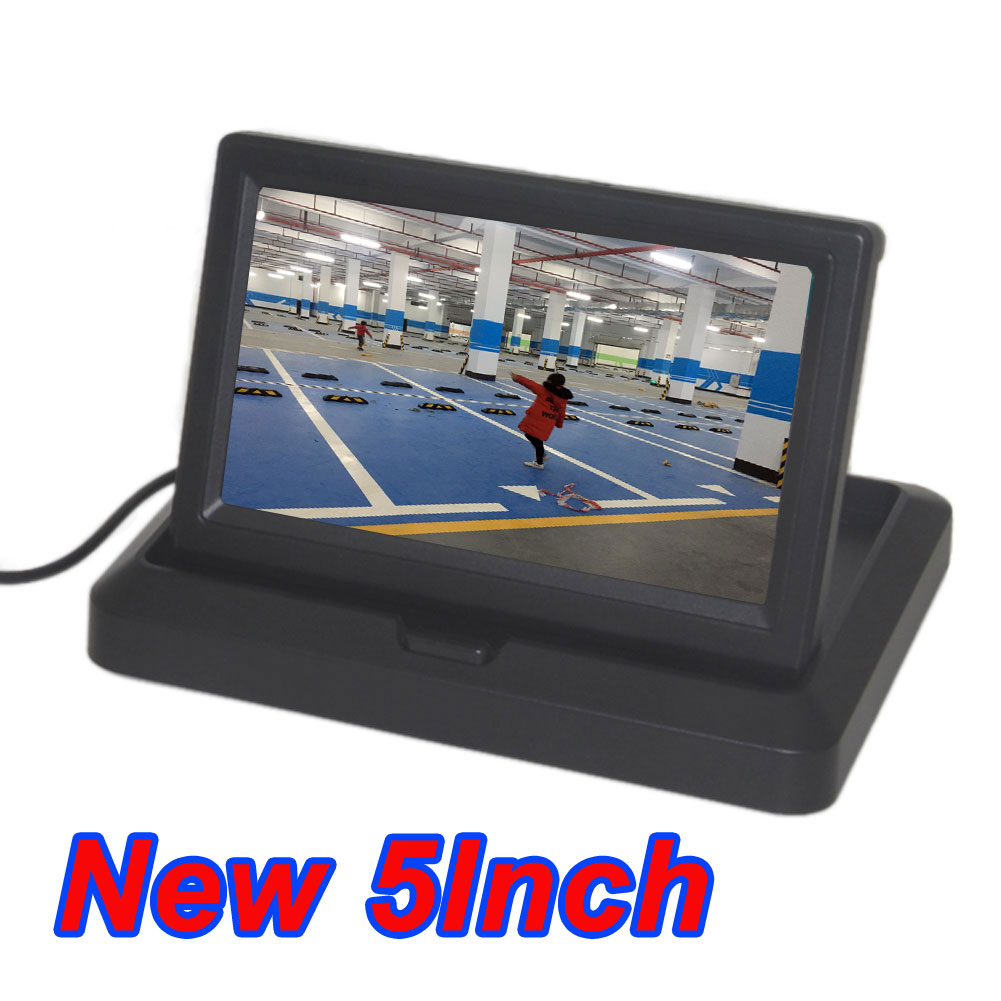 Car 5 Inch Folding New Digital Screen 2 Channel Video Input DVD Player DC 12/24V Monitor 5.0