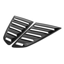 1 Pair Left & Right Side Window Louver Scoop Cover Vent for Ford Mustang 2015 2016 2017 Glossy Black(China)
