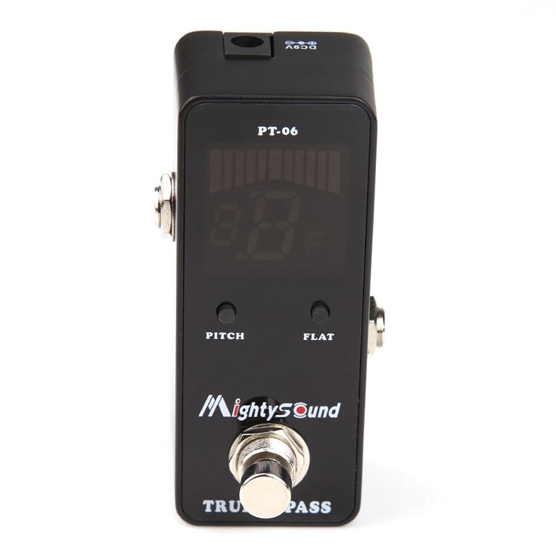 Black Guitar Effect Pedal Chromatic Guitarra Tuner Pedal de guitarra Accessories Mighty Sound Micro Guitar Effects