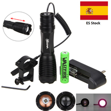 цена на 940nm IR Infrared LED Rail Hunting Light Zoom Military Flashlight Night Vision Weapon Light +18650 Battery +Charger+Rifle Mount