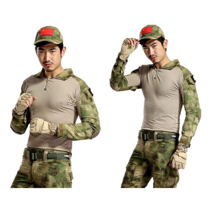 e418212f77c67 التكتيكية العسكرية رجل القتالية الموحدة الجنرال 2 قميص مع منصات تي شيرت xxl  6 ألوان