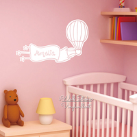 Custom Name Wall Sticker Balloon Name Wall Decal Baby Nursery Girls Name Kids Room Stickers Cut