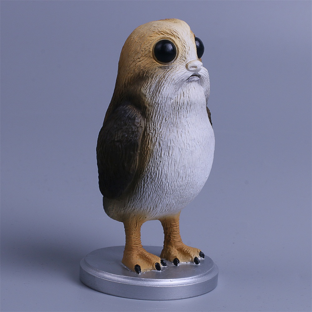 Star Wars The Last Jedi Porg Action Figure Cosplay Porg Toy Doll Christmas Gift Resin (6)