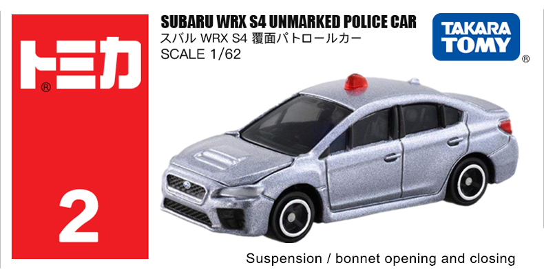 Detail Feedback Questions about TOMICA NO  2 SUBARU WRX S4 UNMARKED