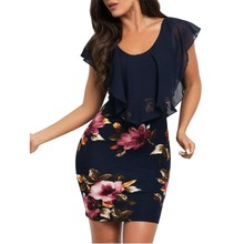 575563c3588 Sexy Womens Sleeveless Floral Printed Bodycon Holiday Party Short Mini  Dress sexy colorful comfortable breathe fashion