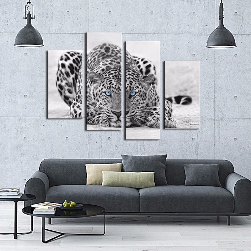 Online get cheap leopard print pictures for White wall combination