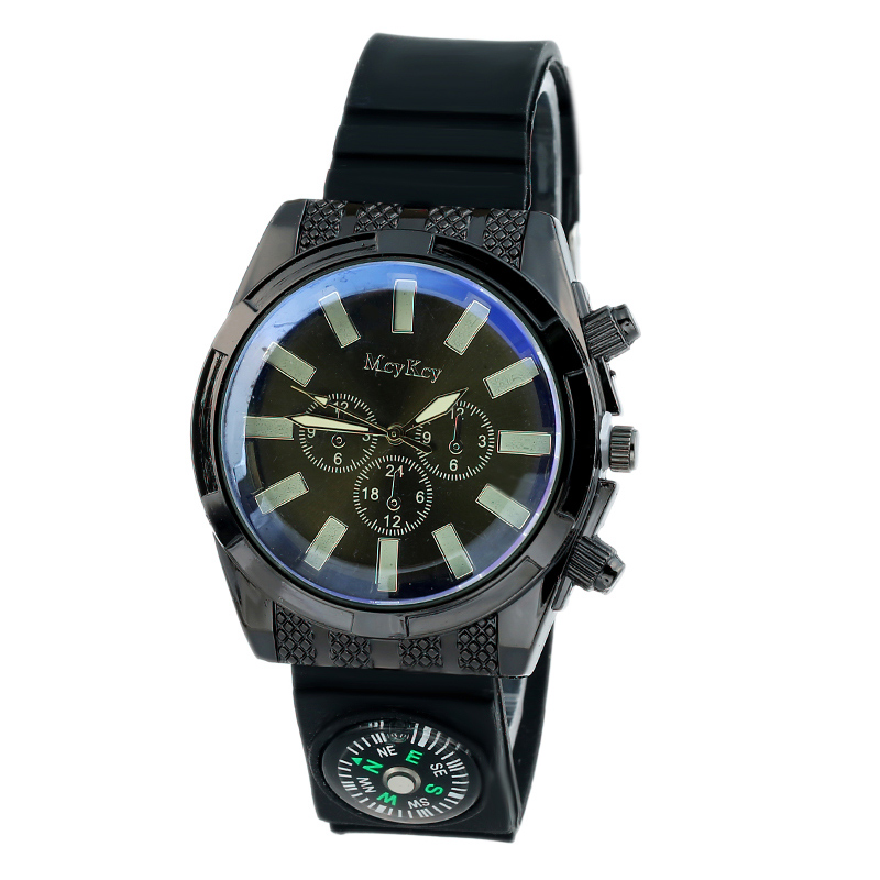 survival watches for men promotion shop for promotional survival mcykcy top new silicone rubber band watch men fashion wristwatch man survival compass outdoors hour relogio montre boy scout