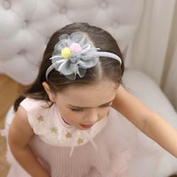 Лента для волос с цветком из сетки высшего качества с красивым бантом из ленты и разноцветным газовым шаровым головным убором красивые