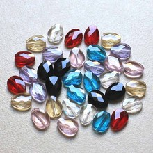 StreBelle High Quality 100Pcs/lot Mixed Color Crystal Glass heart beads For DIY Jewelry Findings 12x10MM