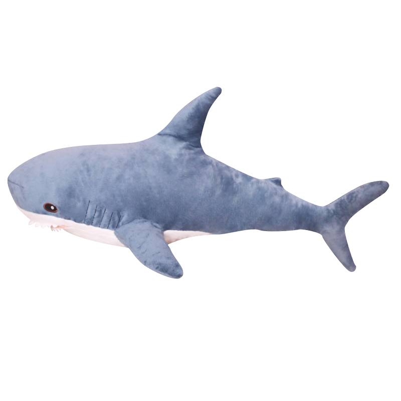 1pc 100CM Big Size Shark Plush Toy Soft Stuffed speelgoed Animal Reading Pillow for Birthday Gifts Cushion Gift For Children image