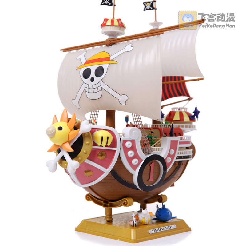ФОТО Free shipping One PIece Straw Hat 28CM Miles Sunshine Merry No. Pirate Ship boat Model figure DIY Collector's edition NEW IN BOX