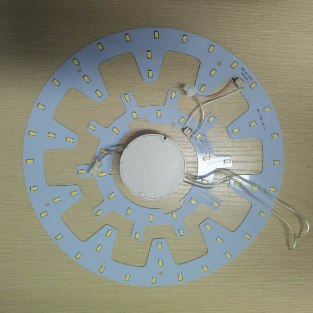 2 pieces natural white 36W LED Gear Panel Circle Light SMD 5730 LED Ceiling Board Circular. with Magnet screw and driver. 28w x2 smd 5730 ceiling light pcb retrofit magnet board led ring light panel remoulding plate with driver and magnet screw