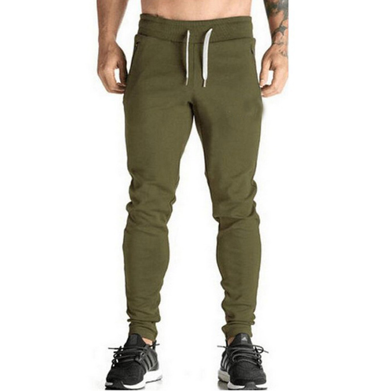 Mens Sweatpants Bodybuilding Joggers Workout-Trousers Gyms Fitness Winter Cotton Casual