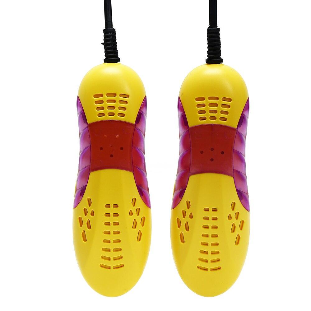 220 V 10 W UE Plug forma de coche de carreras Voilet luz secador de zapatos pie Protector Boot desodorante olor deshumidificar dispositivo zapatos secador calentador