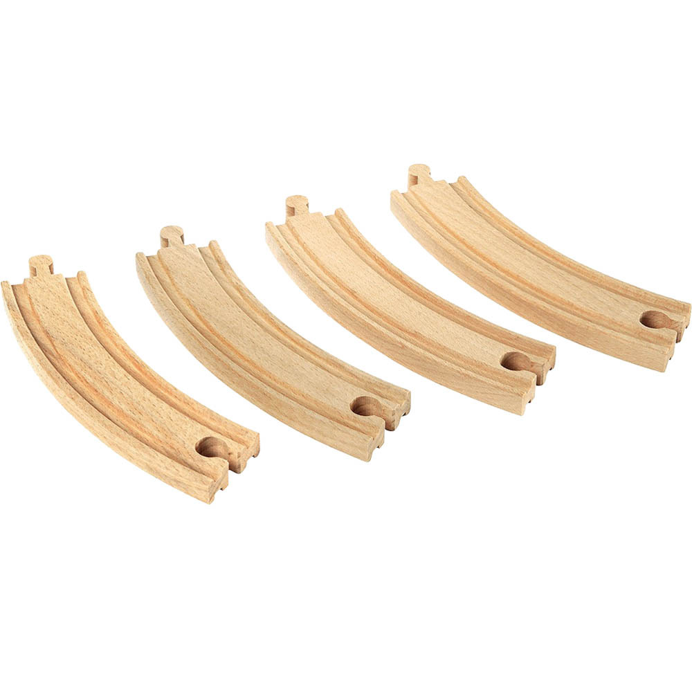 Beech wood Tomas and Friends Train Wooden Big Bend Track Railway Slot toys for kids