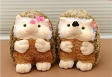 a pair of small cute plush hedgehog toys cartoon boy and girl hedgehog dolls gift toy about 22cm