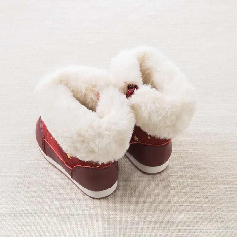 Dave Bella ฤดูใบไม้ร่วงฤดูหนาว babay สาวหิมะรองเท้าแฟชั่นรองเท้ารองเท้าแบรนด์ DB5536