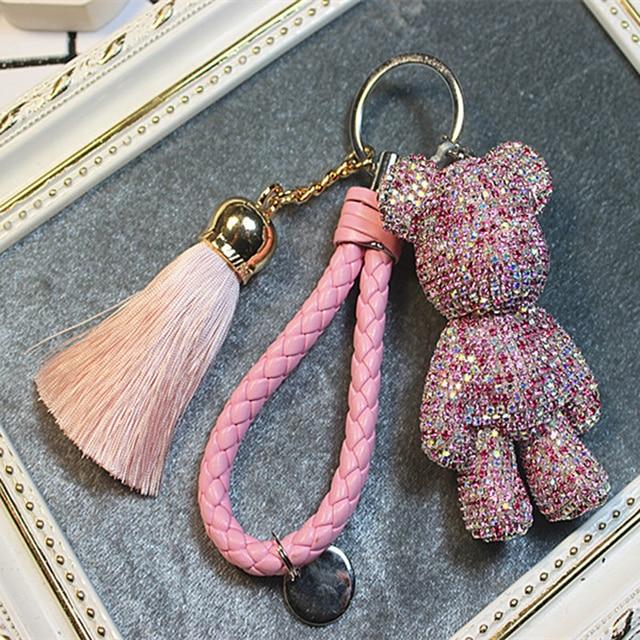 Luxury Trinket Key Ring Leather Rope Tassel Keychain Diy Craft