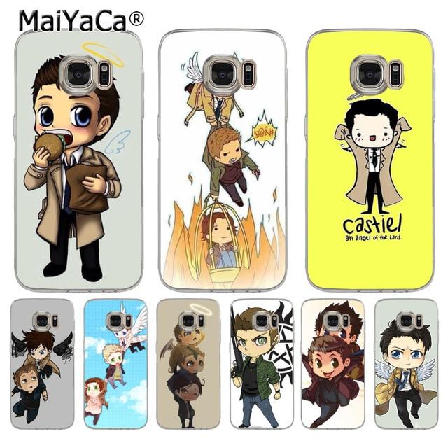 MaiYaCa Keren Kartun Anime Supernatural Tv Logo Lembut Tpu Telepon Kasus Cover Untuk Samsung Galaxy