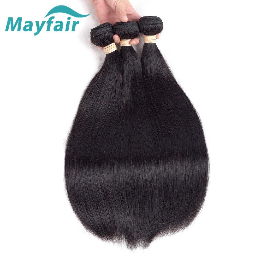 Mayfair Hair Brazilian Straight Hair 3 Bundles Brazilian Hair Weave Bundles Natural Color Remy Hair Extension