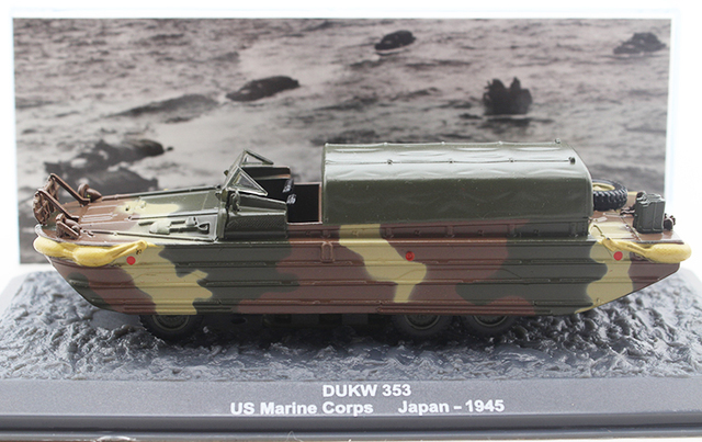 rare IXO / Altaya 1/72 American GMC DUKW-353 wheeled amphibious truck model Alloy military model