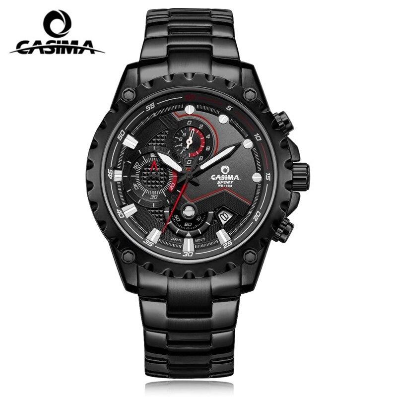 CASIMA quartz watch fashion casual men male watch glowing waterproof watch male multifunction sports watch relogio masculino men fashion quartz watch 45mm