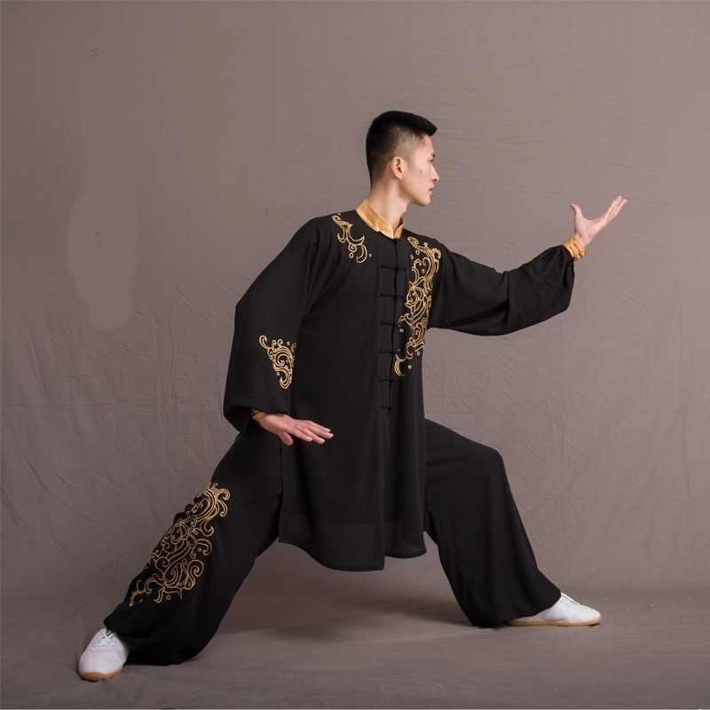 Guerreiro chinês Traje Uniforme Wushu Kung Fu Bruce Lee Traje 2019 Nova Chegada Tradicional Tang Terno Tai Chi Roupas TA1512