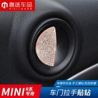 1set=2pcs Car door handle decoration stickers Imitation diamond Auto Accessories for BMW MINI R55 R56 R60 R61 clubman cooper
