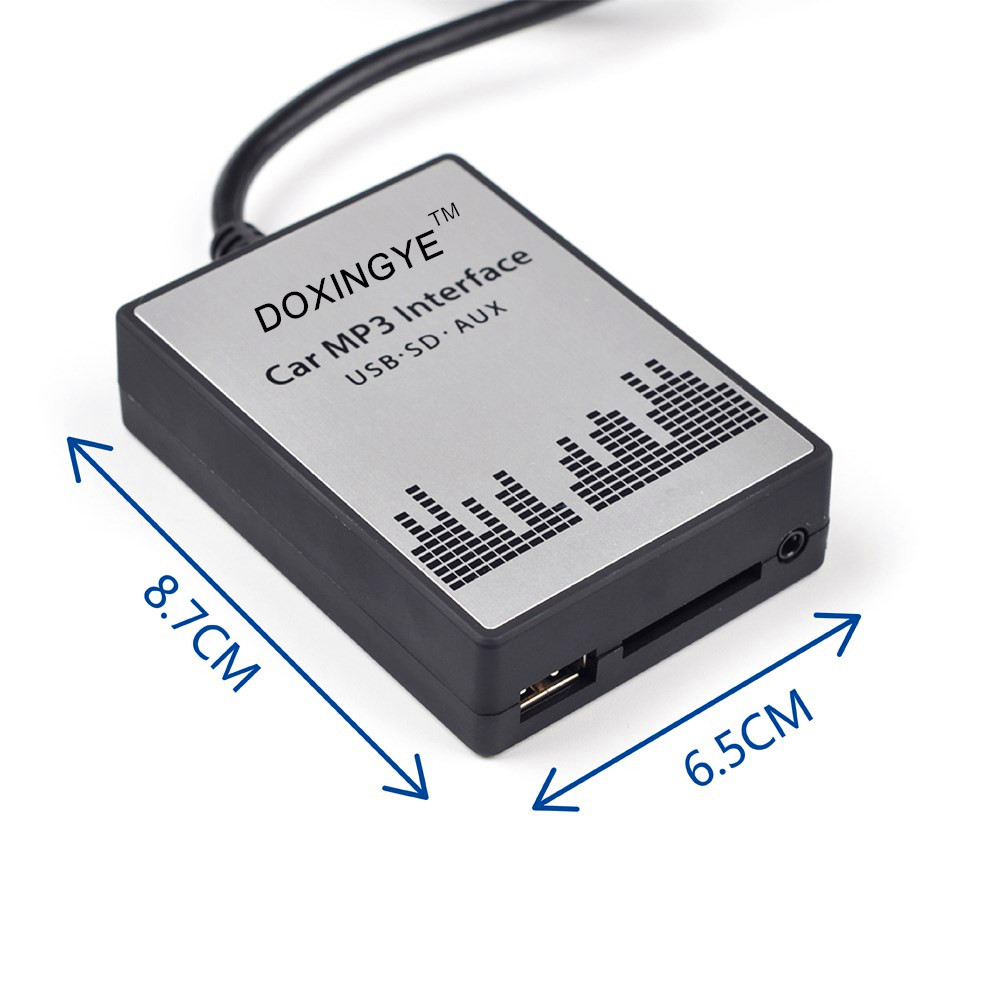 DOXINGYE USB SD AUX Car MP3 Player Music CD Changer Audio Adapte For Peugeot 307 407 Citroen C4 C5 RD4 12PIN Interface-in Car MP3 Players from Automobiles & Motorcycles    3