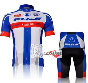 Quick-dry! FUJI 2012 racing team cycling jersey and shorts / short sleeve jersey+pants bike bicycle riding wear set scoyco motorcycle riding knee protector extreme sports knee pads bycle cycling bike racing tactal skate protective ear