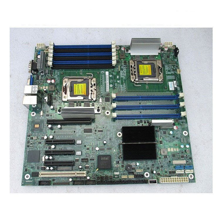 S5520HC Dual 1366 X58 Server Board Support Xeon 6-core ECC REG Memory 9 Memory Slots Used 90%new