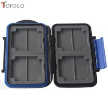 Hot Sale Black Tofoco 12 Slots Memory Card Case Waterproof Slim for SD Holder Box MC-SD Stores Protector for Storage 2017