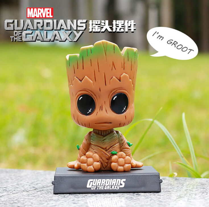 Evade Glue Guardians Of The Galaxy Vol 2 Action Figure Shaking His Head Doll Car Furnishing Articles Model Holiday Gift 12cm Action & Toy Figures