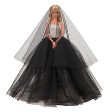 Accessories Clothes Black Princess Wedding Dresses Noble Party Gown For Barbie Doll Fashion Design Outfit Best Gift For Girl' nk one set original princess doll dress noble party gown for barbie doll fashion design outfit best gift for girl doll