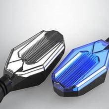 2 pcs Dual-cor Da Motocicleta Sinal de Volta Indicadores Blinkers luzes LED âmbar Piscas DRL lâmpada branco/vermelho/ azul para Harley Honda