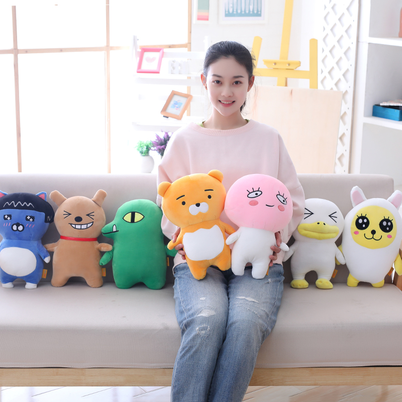 32cm 1pcs Korean Super Star Kakao Friends U-type Plush Pillow Magic Dual Usage Stuffed Toys For Sofa Bedroom Decoration