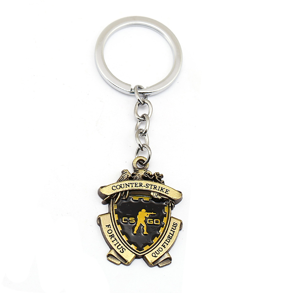 Game CS GO Medal Keychain Men Metal Counter Strike CSGO Keyring Women Car Bag Pendant Jewelry Fans Gift Souvenir Llaveros Hombre