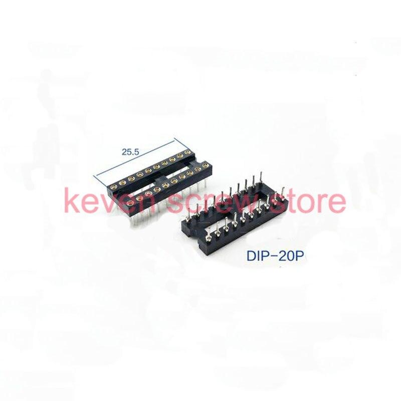 10pcs  lots round hole 20p  28p dip ic socket adaptor solder type ic connector type socket kit