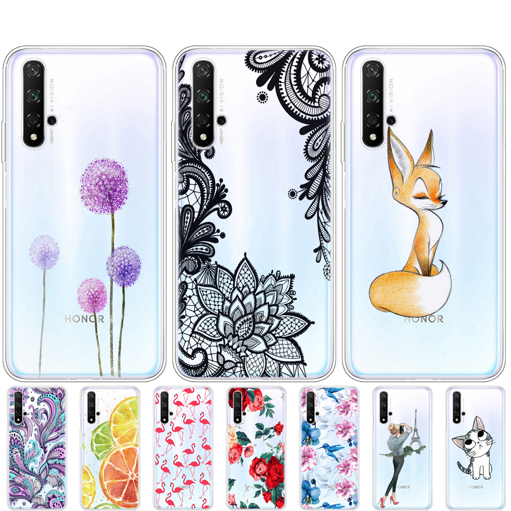 Case For Honor 20 Case Silicon Back Cover Phone Case For Huawei Honor 20 Pro Lite Honor20 YAL-L21 YAL-L41 Luxury Cartoon Back