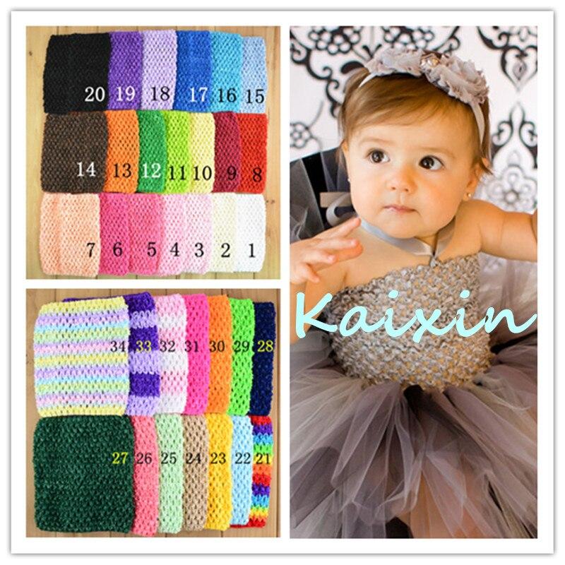 40pcs/lot 34 Color U Pick 6 Inch Small Elastic Crochet Tube Tutu Tops Unlined Waffle Headbands Girls Waistbands funny blades style small plastic spinning tops random color 4 pcs