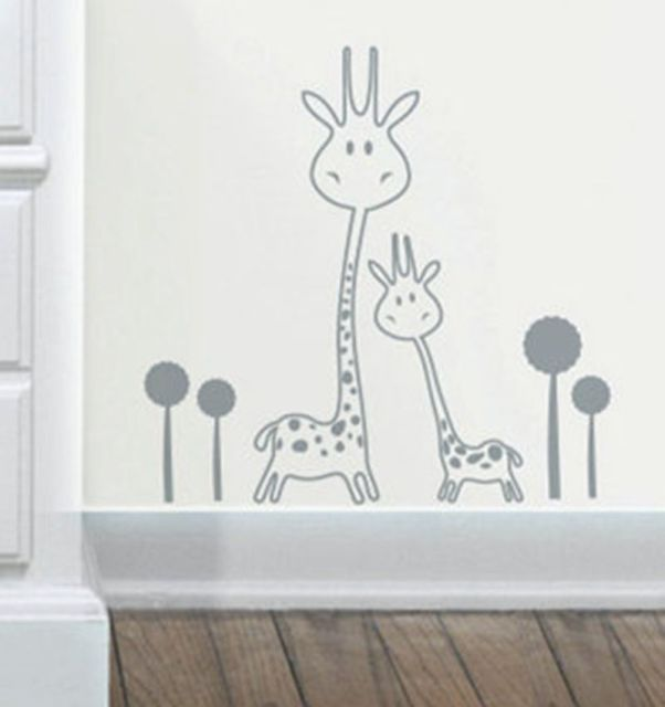 Vinyl Wall Decal Removable Giraffe Wall Sticker Baby Nursery - Vinyl wall decals animals