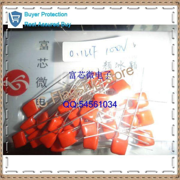 Brand new 100 v 103 pellicola di poliestere condensatore CBB 0.01 UF e nf pin passo P5MM