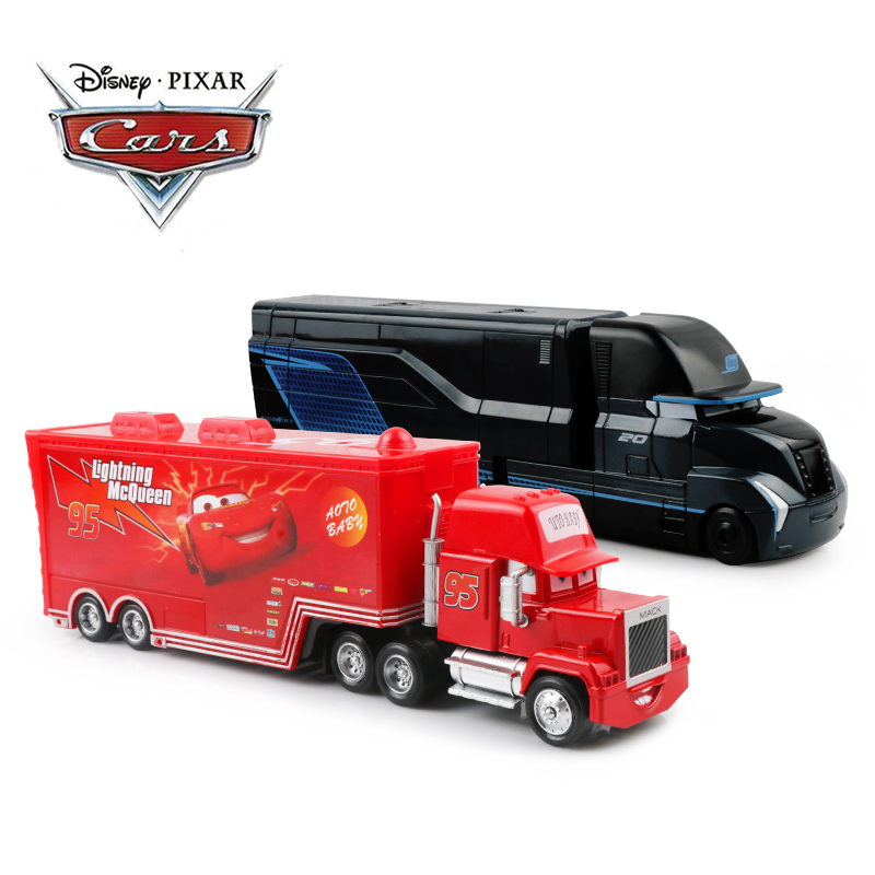 Disney Pixar Cars 2 3 Toys Lightning McQueen Jackson Storm Mack Uncle Truck 1:55 Diecast Model Car Toy Children Birthday Gift ice cream cart toy